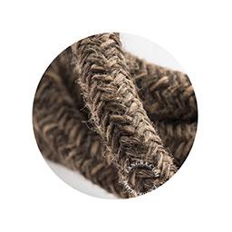 Textielsnoer canvas d.bruin