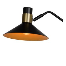 Vloerlamp zwart/messing