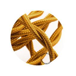 Textielsnoer gedraaid d.goud