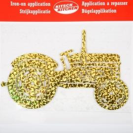 Opstrijkapplicatie Tractor glitter