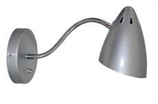 Wandlamp WQ Retro metallic zilver