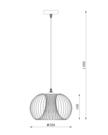 Hanglamp draadwerk rond