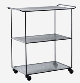 Metalen trolley zwart Madam Stoltz