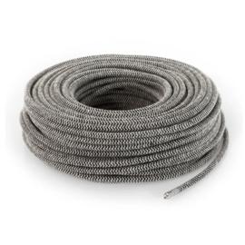 Textielsnoer zwart-zand zebra