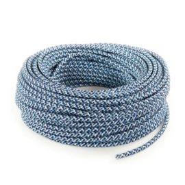 Textielsnoer confetti blauw