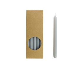 Set 20 kaarsen cool grey D:12mm H:175mm