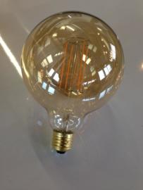 125MM 2W LED FILAMENT GLOBE goud