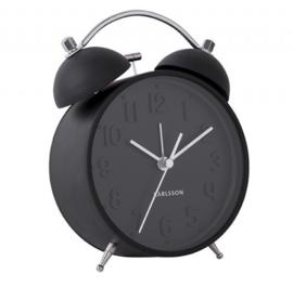 Wekker/klok Iconic mat zwart