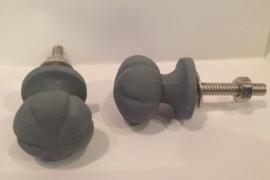 Knopje metaal grijs