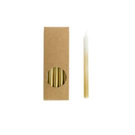 Set 20 kaarsen white-gold D:12mm H:175mm