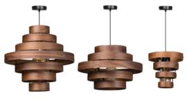 Hanglamp Wood 7-rings