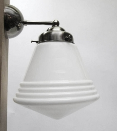 Wandlamp Recht + Luxe schoollamp S.