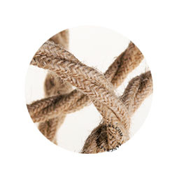 Textielsnoer jute 3 polig