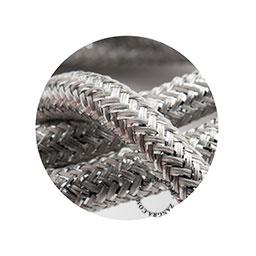 Textielsnoer zilver glitter