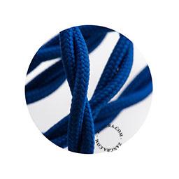 Textielsnoer gedraaid blauw