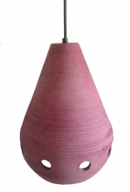 Hanglamp aardewerk paars