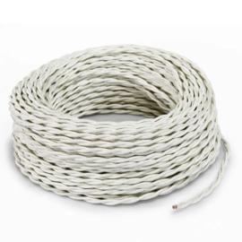 Textielsnoer torcido ivoor 3 polig