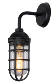 Wandlamp mat zwart