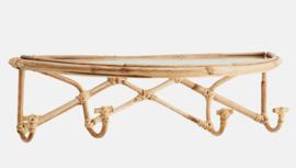Bamboe wandplank met haken Madam Stoltz