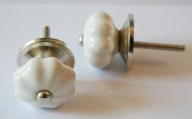 Knop mini geschulpt wit