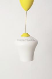 Hanglampje geel-wit