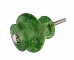 Knop glas groen