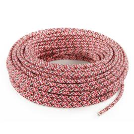 Textielsnoer confetti roze