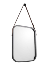 Bamboe spiegel M zwart