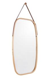 Bamboe spiegel L naturel