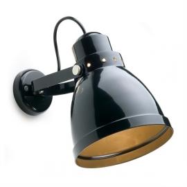 Plafond-/wandspot zwart