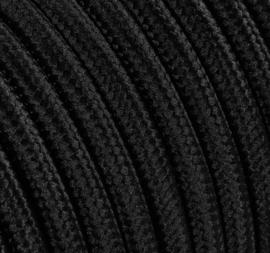 Textielsnoer zwart 3 polig
