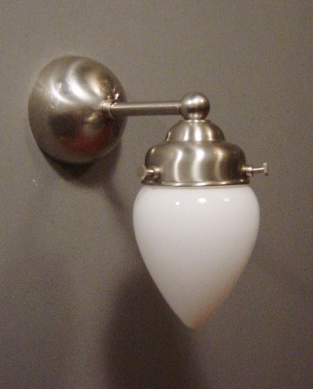 Wandlamp Recht + Eitje opaal
