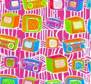 Dessin Televisie fuchsia roze