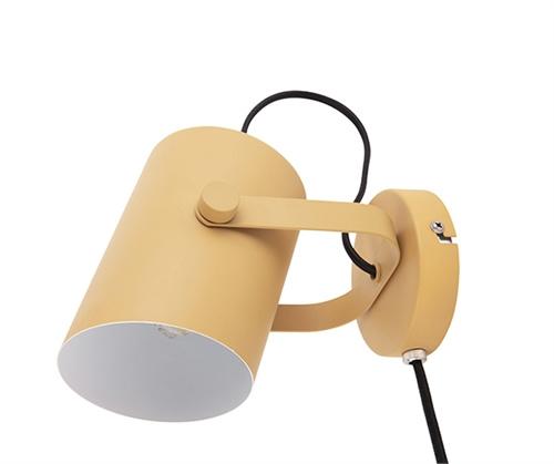 Wandlamp mosterdgeel