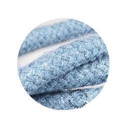 Textielsnoer hennep blauw