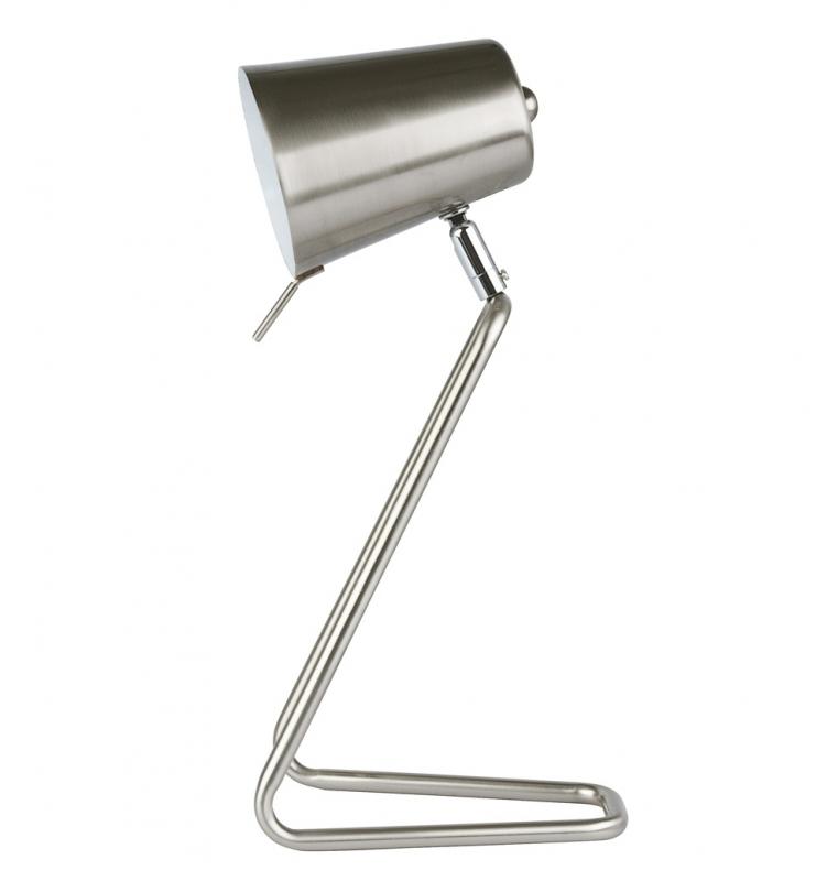"""Bureaulamp """"Z"""" zilver"""