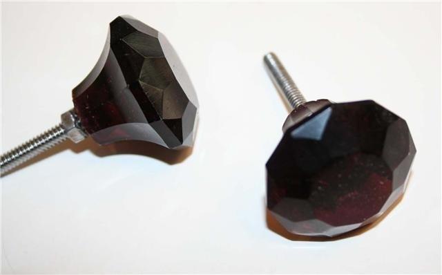 Knop glas paars