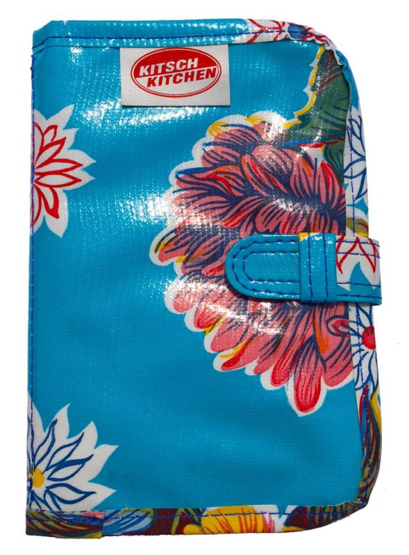 Portefeuille Crisantemo blauw