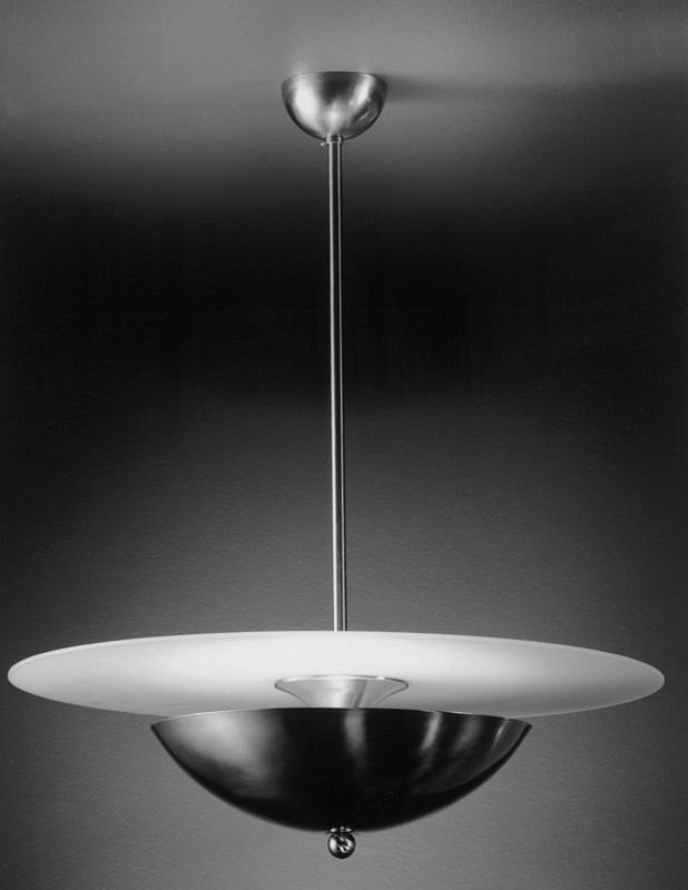 Hanglamp Halve maan + glasplaat