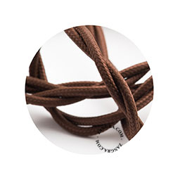 Textielsnoer gedraaid bruin