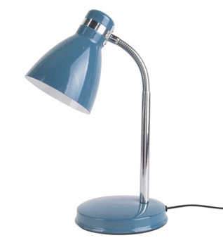 """Bureaulamp """"Study"""" blauw"""