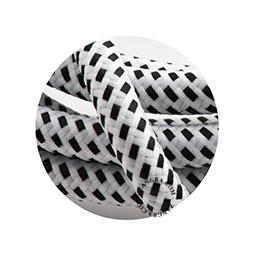 Textielsnoer wit met zwart stipje