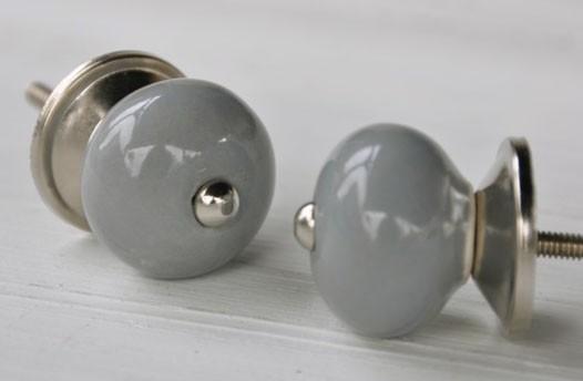 Knop mini grijs