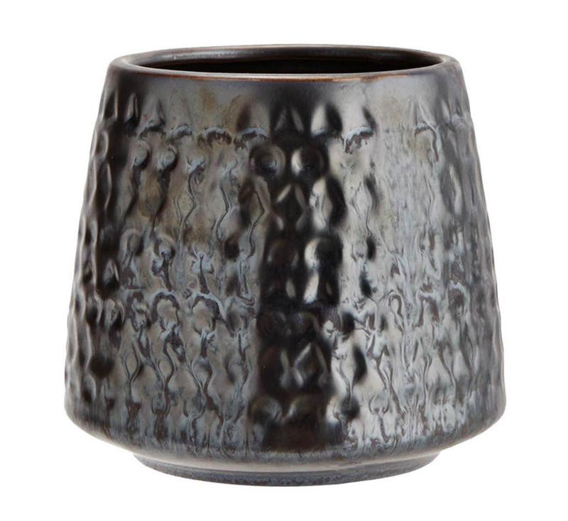 Bloempot XL metallic zwart Madam Stoltz