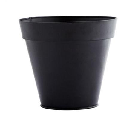 Bloempot zwart metaal Madam Stoltz
