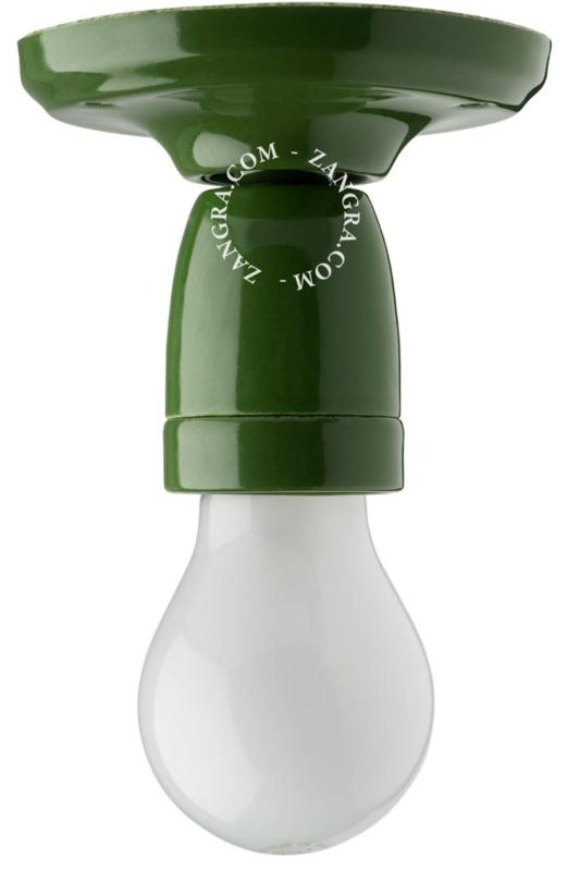 Plafondhouder porselein groen