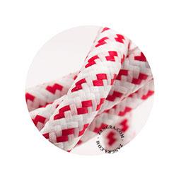 Textielsnoer wit met rood blokje