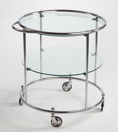 Tea trolley 2 glasplaten