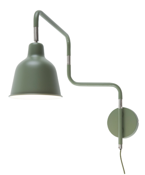 Wandlamp LONDON olijfgroen