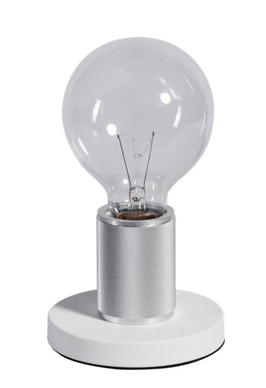 Tafellamp wit/chroom